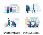 bright flyer hospital visit... | Shutterstock .eps vector #1460668883
