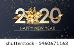 happy new year 2020 winter... | Shutterstock .eps vector #1460671163
