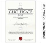 certificate template | Shutterstock .eps vector #146067410