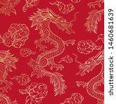 oriental dragon flying in... | Shutterstock .eps vector #1460681639