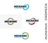 set of gear logo designs... | Shutterstock .eps vector #1460696216