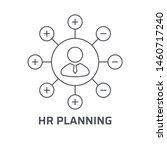 hr planning icon. trendy modern ... | Shutterstock .eps vector #1460717240