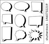 blank white cartoon speech... | Shutterstock .eps vector #1460732219