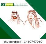national day saudi arabia  ... | Shutterstock .eps vector #1460747060