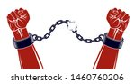 strong hand clenched fist... | Shutterstock .eps vector #1460760206