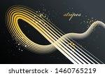 golden 3d lines in motion...   Shutterstock .eps vector #1460765219