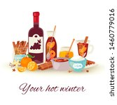 mulled wine winter and... | Shutterstock .eps vector #1460779016