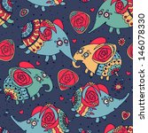 cheerful seamless pattern with... | Shutterstock .eps vector #146078330