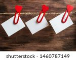 Heart shaped clothespin hanging ...