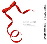 shiny red ribbon on white... | Shutterstock .eps vector #146078858