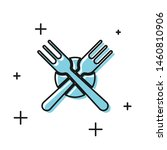 black crossed fork icon... | Shutterstock .eps vector #1460810906