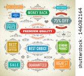 vector vintage premium quality... | Shutterstock .eps vector #146082164