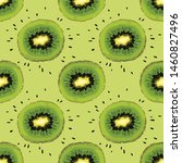 seamless pattern with kiwi....   Shutterstock .eps vector #1460827496