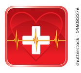 first aid medical heart health...   Shutterstock .eps vector #146083376