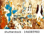 old posters grunge textures and ... | Shutterstock . vector #146085983