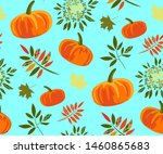 vector autumn leaves and... | Shutterstock .eps vector #1460865683