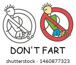 funny vector farting smelly... | Shutterstock .eps vector #1460877323