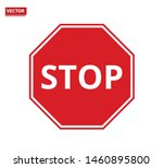 stop sign icon. no sign  red... | Shutterstock .eps vector #1460895800