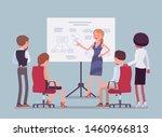 business meeting in office.... | Shutterstock .eps vector #1460966813