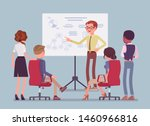 business briefing in the office.... | Shutterstock .eps vector #1460966816
