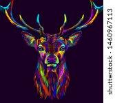 deer. abstract  neon  multi...   Shutterstock .eps vector #1460967113