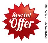 special offer tag. red sticker. ... | Shutterstock . vector #146097200