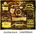 retro calligraphic design...   Shutterstock .eps vector #146098064