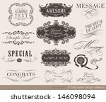 calligraphic design elements... | Shutterstock .eps vector #146098094