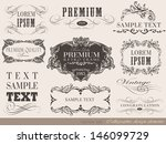 calligraphic design elements... | Shutterstock .eps vector #146099729