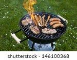 hot grill  | Shutterstock . vector #146100368