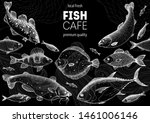fish sketch collection. hand... | Shutterstock .eps vector #1461006146
