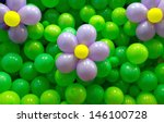 Party Balloon Background With...