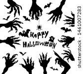 the monster's hands. happy... | Shutterstock .eps vector #1461007283