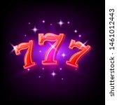 big win slots red 777 banner... | Shutterstock .eps vector #1461012443