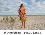 summer image of beautiful ... | Shutterstock . vector #1461013586