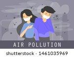 air pollution concept vector... | Shutterstock .eps vector #1461035969