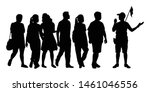 tourists group with travel... | Shutterstock .eps vector #1461046556