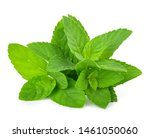 Mint Leafs Isolated On A White...