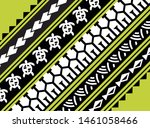 polynesian border  ethnic... | Shutterstock .eps vector #1461058466