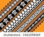 maori pattern wallpaper vector  ... | Shutterstock .eps vector #1461058469