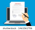 online electronic documents on... | Shutterstock .eps vector #1461061706