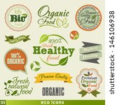 organic food  vintage icon... | Shutterstock .eps vector #146106938