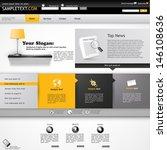 website template  orange and... | Shutterstock .eps vector #146108636