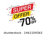 sale and special offer tag ... | Shutterstock .eps vector #1461104363