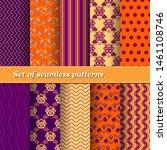 set of trendy seamless floral... | Shutterstock .eps vector #1461108746