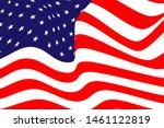 waving american flag. vector... | Shutterstock .eps vector #1461122819