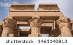 upper part of the temple of kom ...   Shutterstock . vector #1461140813