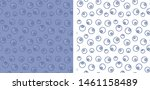 seamless blueberry patterns.... | Shutterstock .eps vector #1461158489