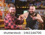 hipster brutal bearded man... | Shutterstock . vector #1461166700