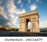 arc de triumph in paris  france | Shutterstock . vector #146116679
